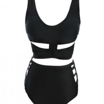 Fat Woman High Waist Hollow Bikini ..