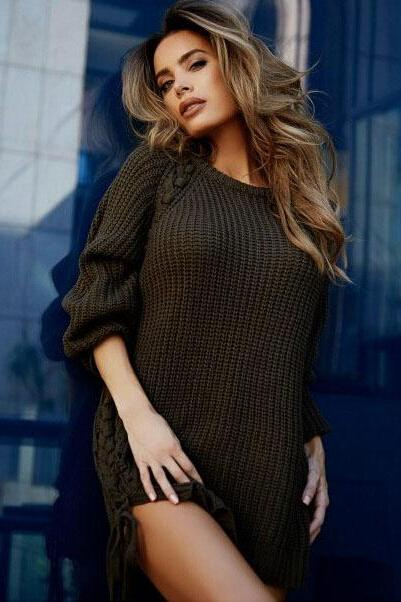 Loose irregular holes sweater 4955261